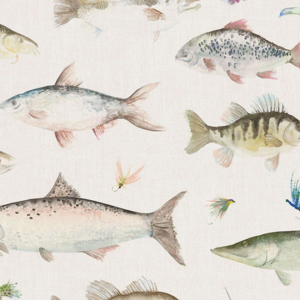 RIVER FISH SMALL, linen