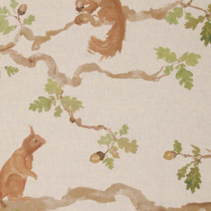 PLAYFUL SQUIRREL, linen
